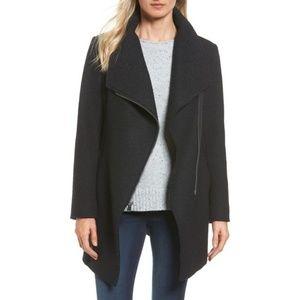 Halogen Black Asymmetrical Coat